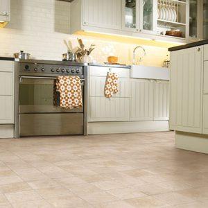 Luxury Vinyl Tiles in kitchen