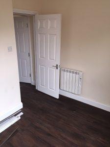 LVT flooring in a bedroom
