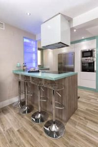Steel and Glass Kitchen