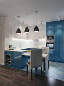 Stylish Blue kitchen