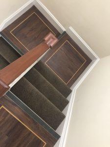 LVT flooring on stairs