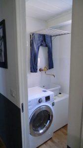 washing machine in downstairs bathroom
